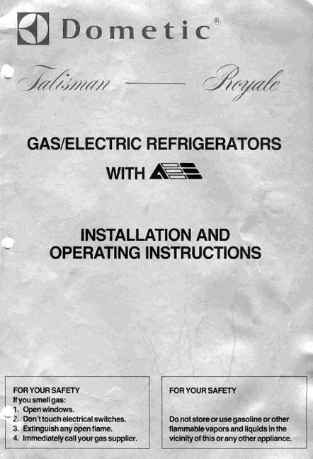 dometic rv refrigerator repair manual