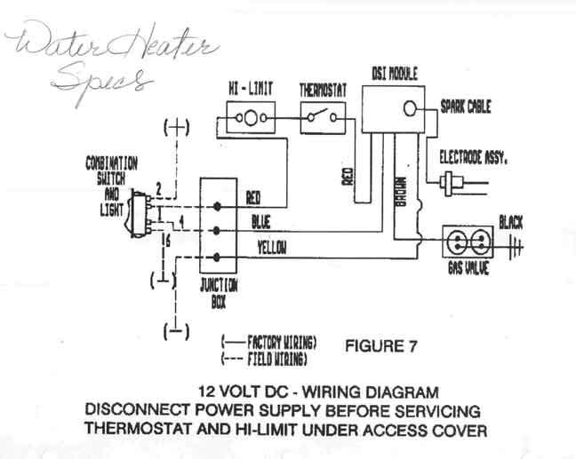 wiring diagram sw10de suburban water heater – the wiring diagram, Wiring diagram