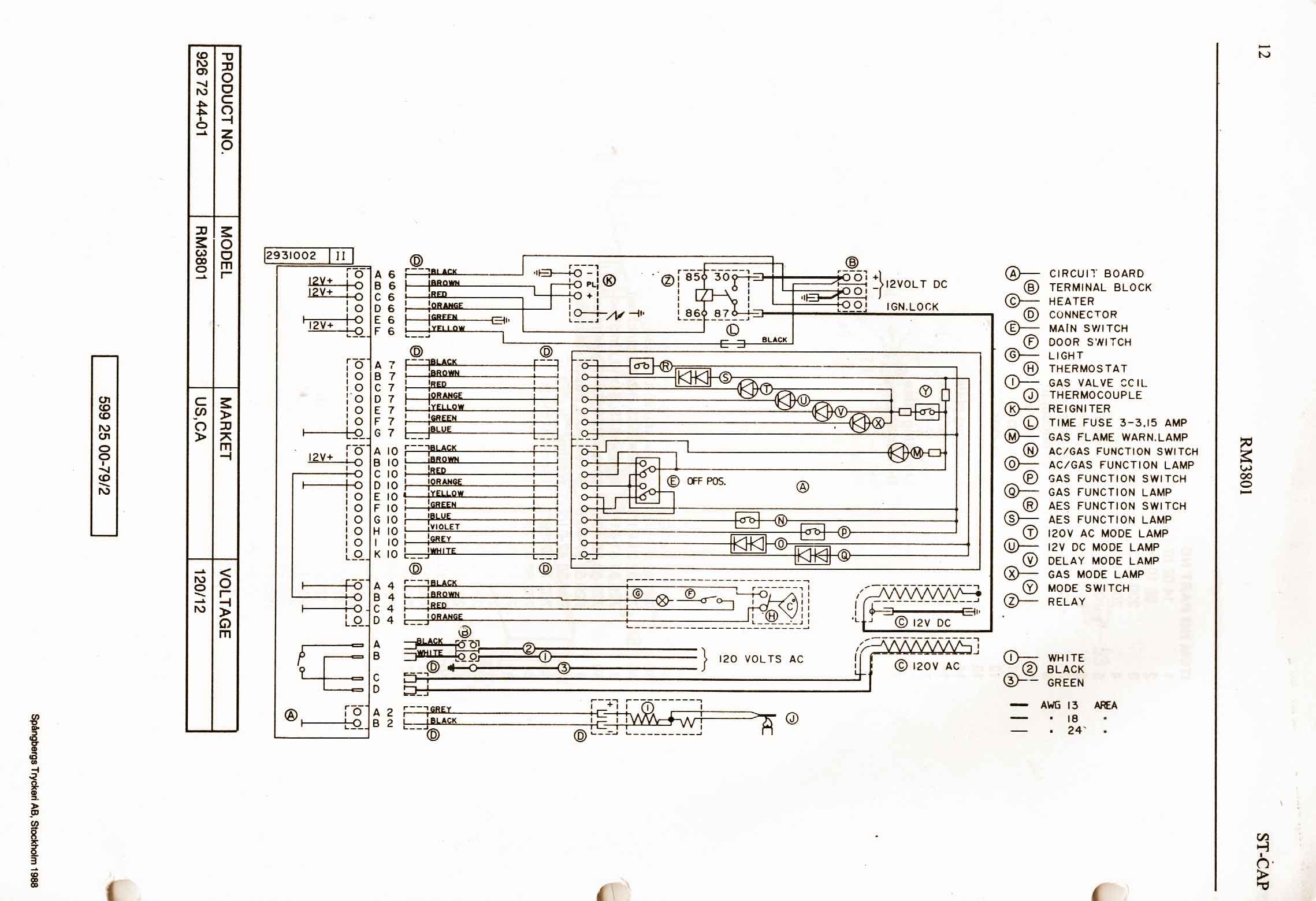 dometic refrigerator parts schematic dometic-3-way-refrigerator #2