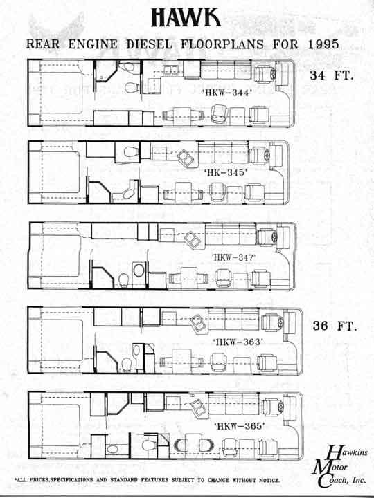 Renegade Motorhome Floorplans - Renegade RV Toterhomes Stacker